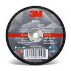 3M™ Silver Cut-Off Wheel, 87464, T1, 4.5 in x 0.40 in x 7/8 in, cost per wheel, 50 per box