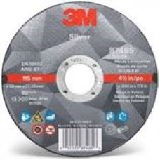 3M™ Silver Cut-Off Wheel, 87465, T1, 4.5 in x 0.045 in x 7/8 in, cost per wheel, 50 per box