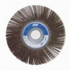 NORTON METAL ALUMINUM OXIDE FLAP WHEEL, SIZE: 6 IN X 1 IN X 1 IN, GRIT: P120, 5 PER BOX, COST PER WHEEL