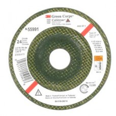 3M(TM) Green Corps(TM) Depressed Center Wheel, 24 4-1/2 in x 1/4 in x 7/8 in, 10 per inner 40 per case