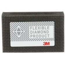 3M™ Flexible Diamond Hand Lap 6200J, 2-1/4 in x 3-3/4 in M125 Micron, 10 per case