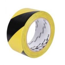 3M™ Hazard Warning Tape 766, black/yellow, 3.0 in x 36.0 yd x 5.0 mil (7.6 cm x 32.9 m x 0.13 mm)