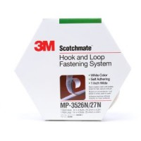 3M™ Fastener MP3526N/MP3527N Hook and Loop S001 White, 1 in x 4.9 yd 0.15 in Engaged Thickness, 5 per case