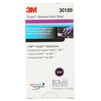 3M™ Trizact™ Hookit™ Foam Sheets, 443SA, 30189, 5000, 2 3/4 in x 5 1/2 in (6.9 cm x 13.97 cm)