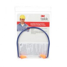 3M™ Tekk Protection™ Banded Hearing Protector, 90537-T-C, 28 dB, blue/orange