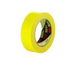3M™ Performance Yellow Masking Tape 301+, 12 mm x 55 m 6.3 mil, 72 per case Bulk, cost per roll