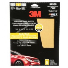 3M™ Fre-Cut™ Production Resinite Gold Sheets, 32538, P500, 9 in x 11 in (22.86 cm x 27.94 cm), 5 per pack