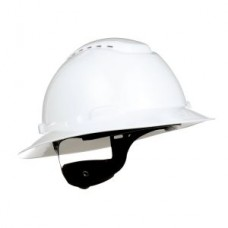 3M™ FULL BRIM HARD HAT, 4-POINT RATCHET SUSPENSION, H-801V, VENTED, WHITE, 20 PER CASE, COST PER HAT