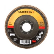 3M™ Cubitron™ II Flap Disc 967A, T27 4-1/2 in x 7/8 in 80+ Y-weight, 10 per case, cost per disc
