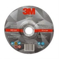 3M™ Silver Cut-Off Wheel, 87470, T27, 6 in x 0.045 in x 7/8 in, cost per wheel