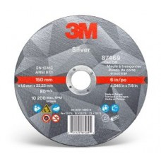 3M™ Silver Cut-Off Wheel, 87469, T1, 6 in x 0.045 in x 7/8 in, cost per wheel