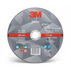 3M™ Silver Cut-Off Wheel, 87471, T1, 7 in x 0.045 in x 7/8 in, cost per wheel