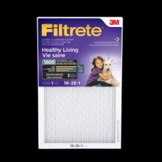 Filtrete™ Healthy Living Ultra Allergen Filter, 2001DC-6C, MPR 1500, 16 in x 25 in x 1 in, 1 per pack, cost each