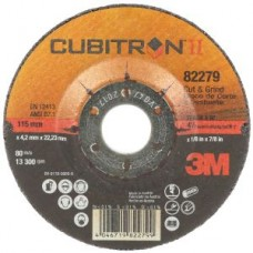 3M™ Cubitron™ II Cut and Grind  T27, 82279, 4 1/2 in x 1/8 in x 7/8 in, 10 per box, 20 per case
