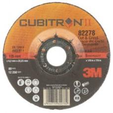 3M™ Cubitron™ II Cut and Grind  T27,82278, 5 in x 1/8 in x 7/8 in, 10 per box, 20 per case