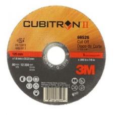 3M™ Cubitron™ II Cut Off Wheel T1 66526, 5 in x .045 in x 7/8 in, 25 per box, 50 per case