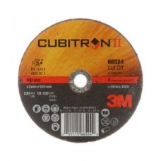 "3M™ Cubitron™ II Cut-Off Wheel, 66524, T1, black, 4 in x 1/8 in x 3/8""-24 (10.16 cm x 3.18 mm)"