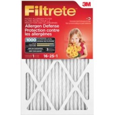 Filtrete™ Allergen Defense Micro Allergen Filter, 9801DC-6C, MPR 1000, 16 in x 25 in x 1 in, 1 per pack, 6 per case, cost each