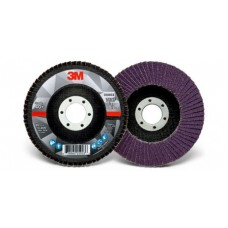3M™ Flap Disc 769F, T29 4-1/2 in x 7/8 in, 40+ YF-weight, 10 per case