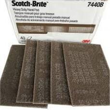 Scotch-Brite™ Heavy Duty Hand Pad, 7440B, 6 in x 9 in, 40 per case, bulk, cost per box