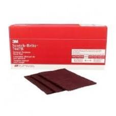 Scotch-Brite™ General Purpose Hand Pad 7447B, 6 in x 9 in, 60 pads bulk per case, cost per pad
