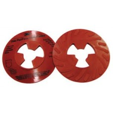 3M™ Disc Pad Face Plate Ribbed 81732, 5 in Extra Hard Red, 10 per case, cost per disc
