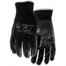 COTTON-BACKED NITRILE DIPPED GLOVE, 390, MEDIUM, 6 PAIR/SLEEVE,  cost per pair