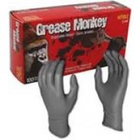 GREASE MONKEY 5 MIL BLACK NITRILE, MEDIUM SIZE, 100 PER BOX,COST PER BOX