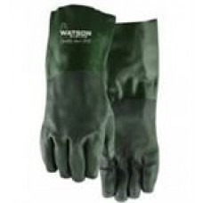 Gloves: PVC, Double dipped, C/W 18 inch Gauntlet cuff, 12 pairs per bag, cost per pair