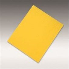 "Dry sanding sheet 1960 siarexx cut (aluminum oxide, yellow), grit 320, size 9"" X 11"" (230  x 280 mm), 100/pack, 500/case"