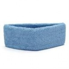 Blue Terry Cloth Sweatband with Velcro Closure, cost each