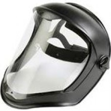 Uvex S8510 Bionic Black Matte Faceshield with Clear Anti-fog Hardcoat Visor, cost per case