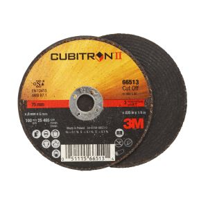 3M NEW CUBITRON II CUT-OFF WHEEL T1 , 3 X 0.035 X 1/4 IN 50/CS, COST PER WHEEL