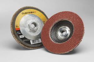 3M™ Cubitron™ II Flap Disc 969F, T29 Quick Change, 5 in x 5/8-11, 60+, 10 per case