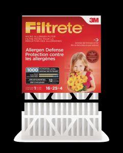 Filtrete™ Allergen Defense Micro Allergen Deep Pleat Filter, MPR 1000, 16 in x 25 in x 4 in