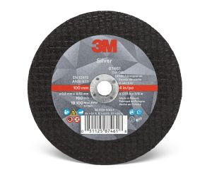 3M™ Silver Cut-Off Wheel, 87461, T1, 4 in x 0.035 in x 3/8 in, cost per wheel